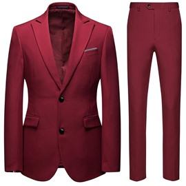 Ericdress Button Pants Formal Men's Dress Suit