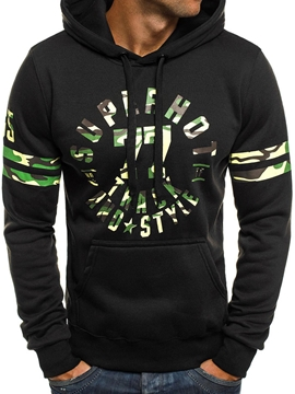 Ericdress Pullover Print Camouflage Spring Hooded Hoodies