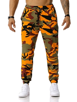 Ericdress Lace-Up Camouflage Lace-Up Mid Waist Casual Men's Pants