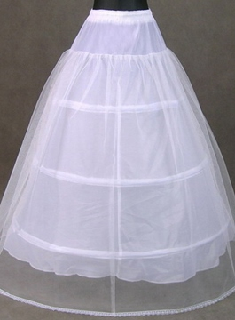 Pretty White Tulle Wedding Petticoat