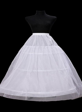 Ericdress Fluffy Double Layers with Three Steel Loops Ball Gown Wedding Petticoats