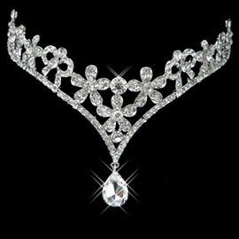 Gorgeous Alloy with Rhinestone Wedding Tiara