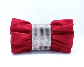 Lovely Red with Rhinestones Evening Handbag/ Clutch