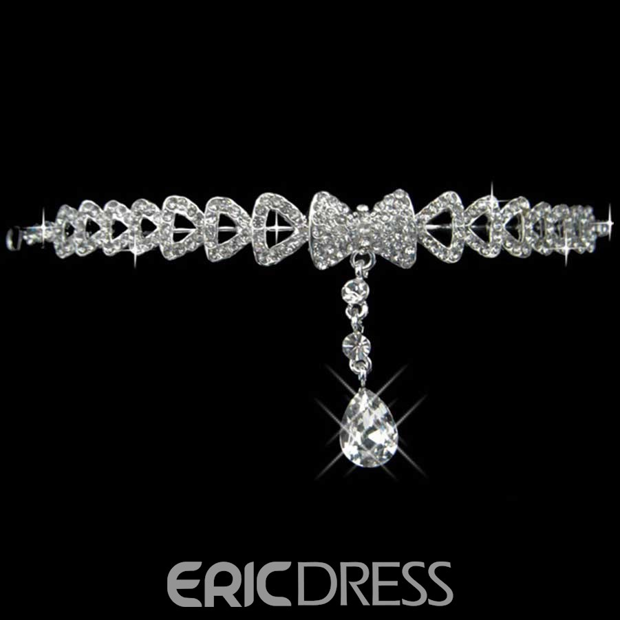 Graceful Alloy with Rhinestone WeddingTiara