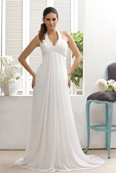 Ericdress Beading Halter Empire Waist Beach Wedding Dress thumbnail