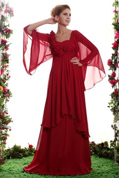 Classy Flowers Floor-Length Sweetheart Neckline Mother of the Bride Dress