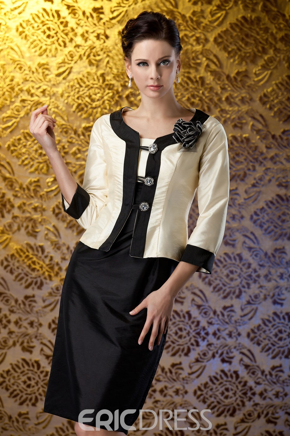 Attractive Sheath/Column Square Neckline Mother of the Bride Dress With Jacket/Shawl