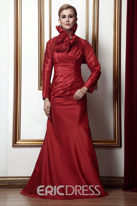 Delicated Flower Mermaid/Trumpet Floor-Length Alina's Mother of the Bride Dress With Jacket/Shawl