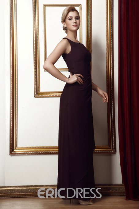 Glamorous Column Square Neckline Ankle-length Alina's Mother of the Bride Dress With Jacket/Shawl