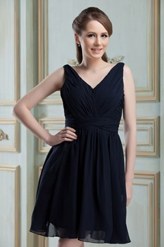 Vogueable A-Line V-Neck Short/Mini Nadya's Bridesmaid Dress
