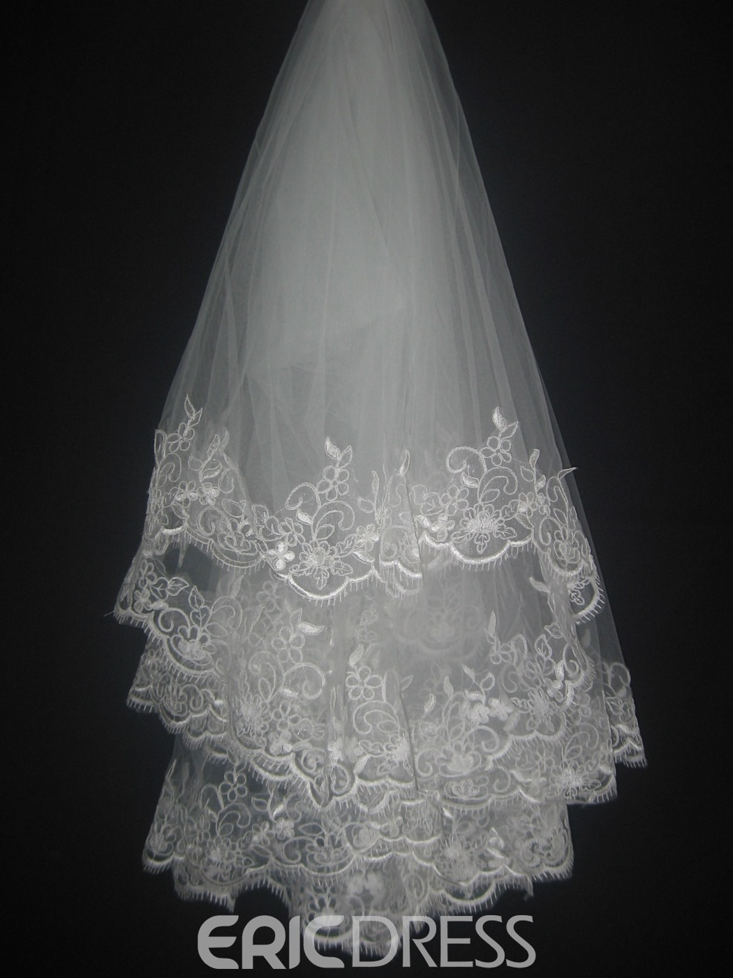 Gorgeous Fingertip Wedding Bridal Veil