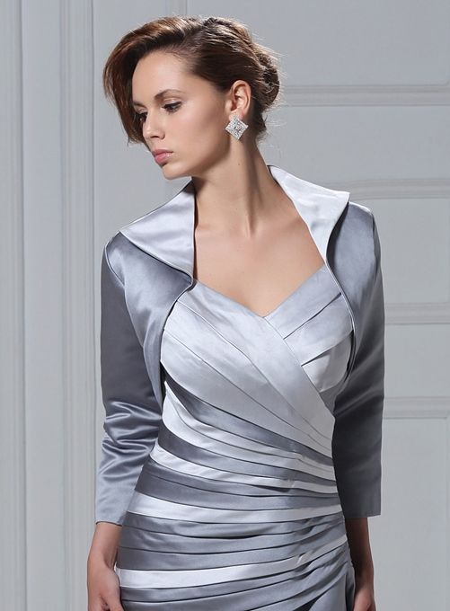 Ericdress Fancy 3/4 Sleeve Length Silver Length Jacket