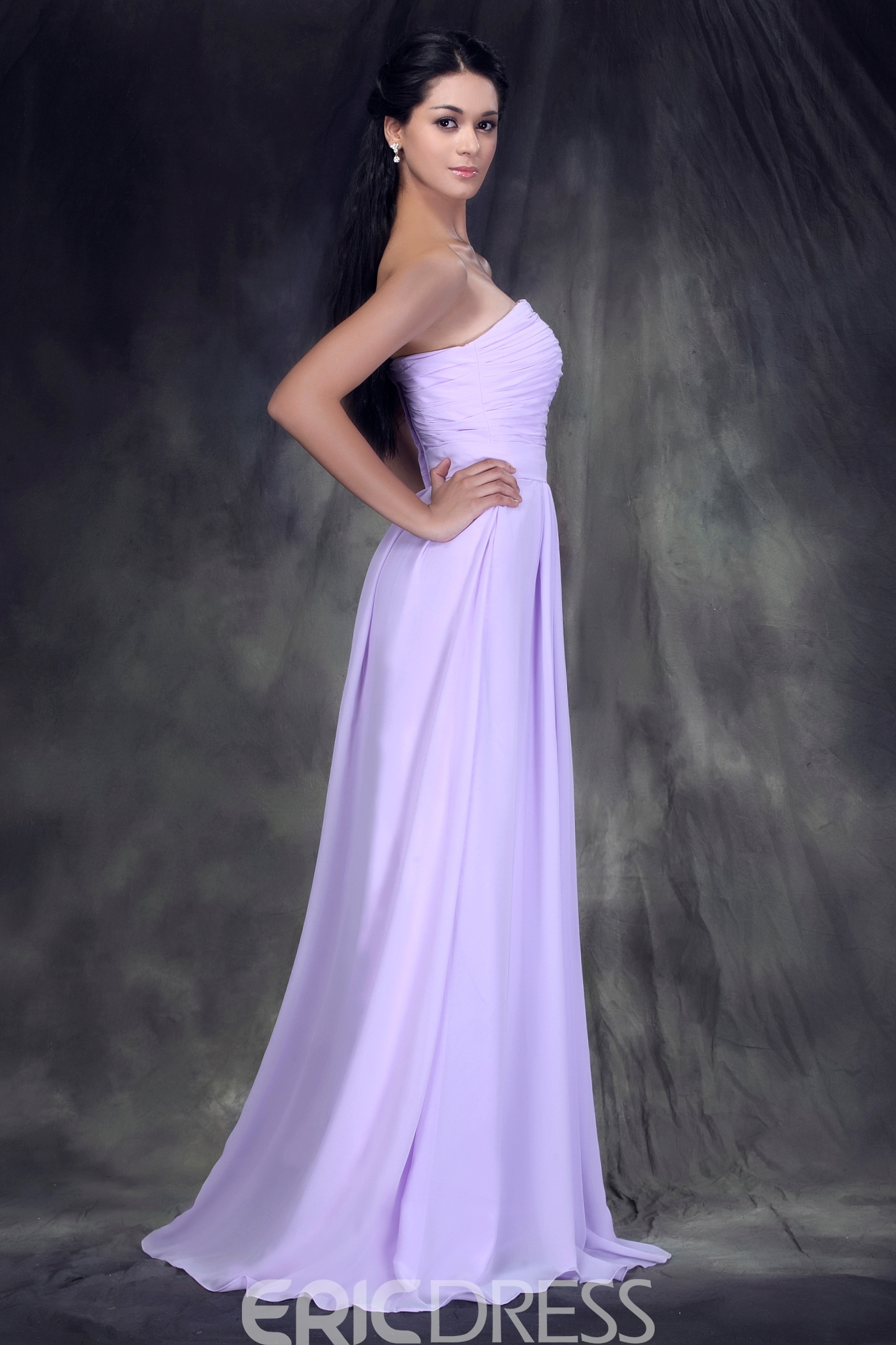 Graceful Pleats Empire Waist Strapless Floor-Length Anderae's Bridesmaid Dress
