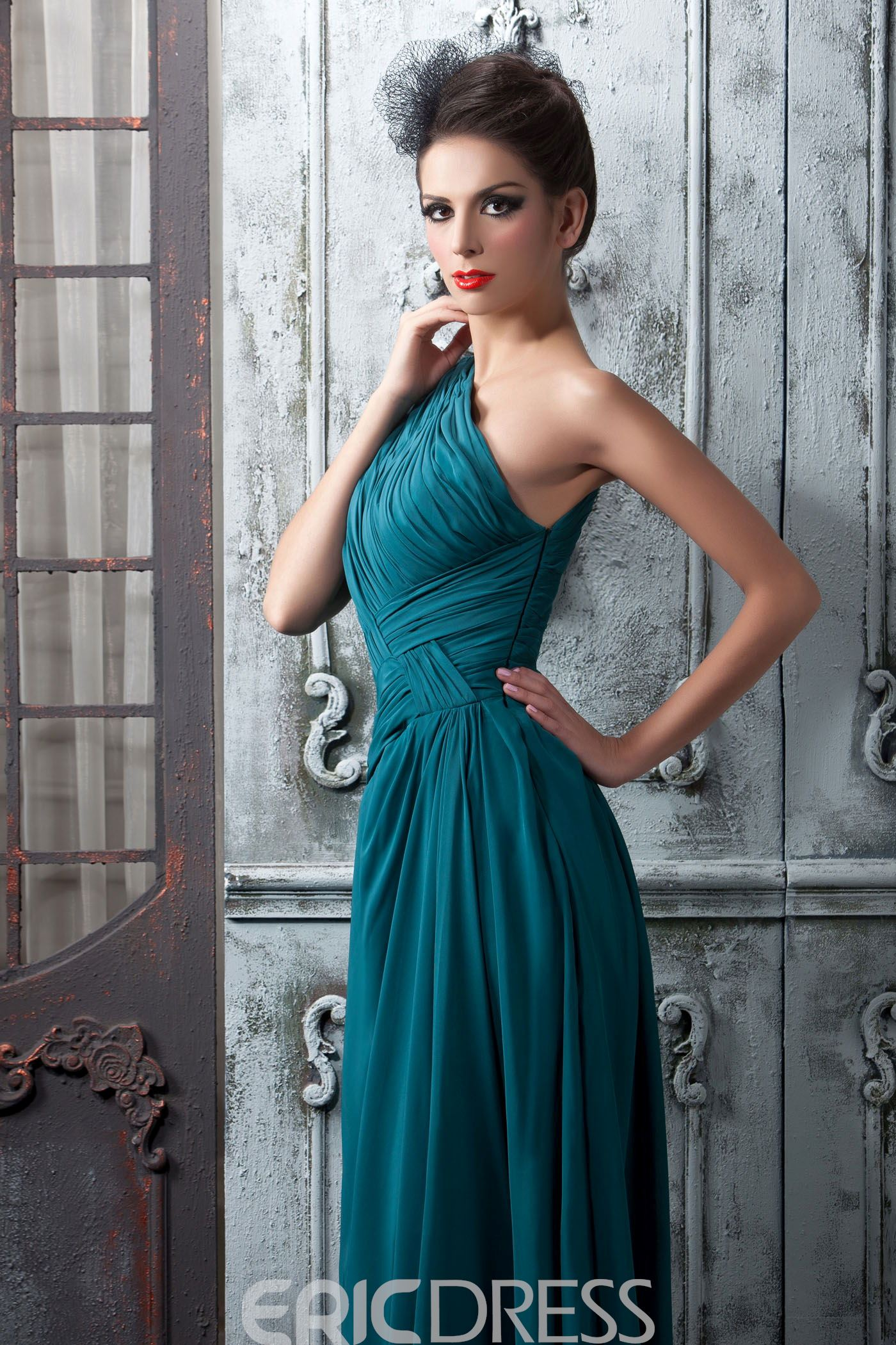 Charming A-Line Floor-Length One Shoulder Bridesmaid Dress