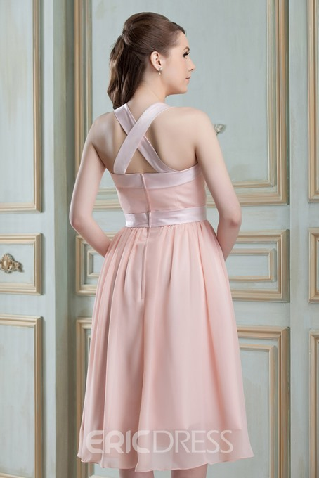 Classy A-Line Square Neckline Knee-Length Nadya's Bridesmaid Dress