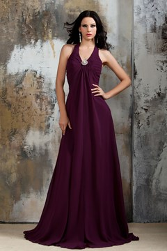 Fashionable Draped A-line Bridesmaid Dress