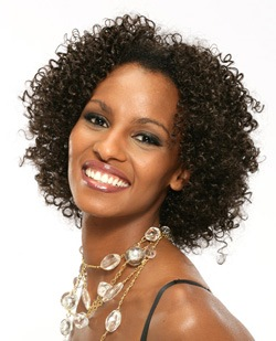 Ericdress Short Kinky Curly Full Lace Wig 14 Inches 100% Human Hair for African American Women