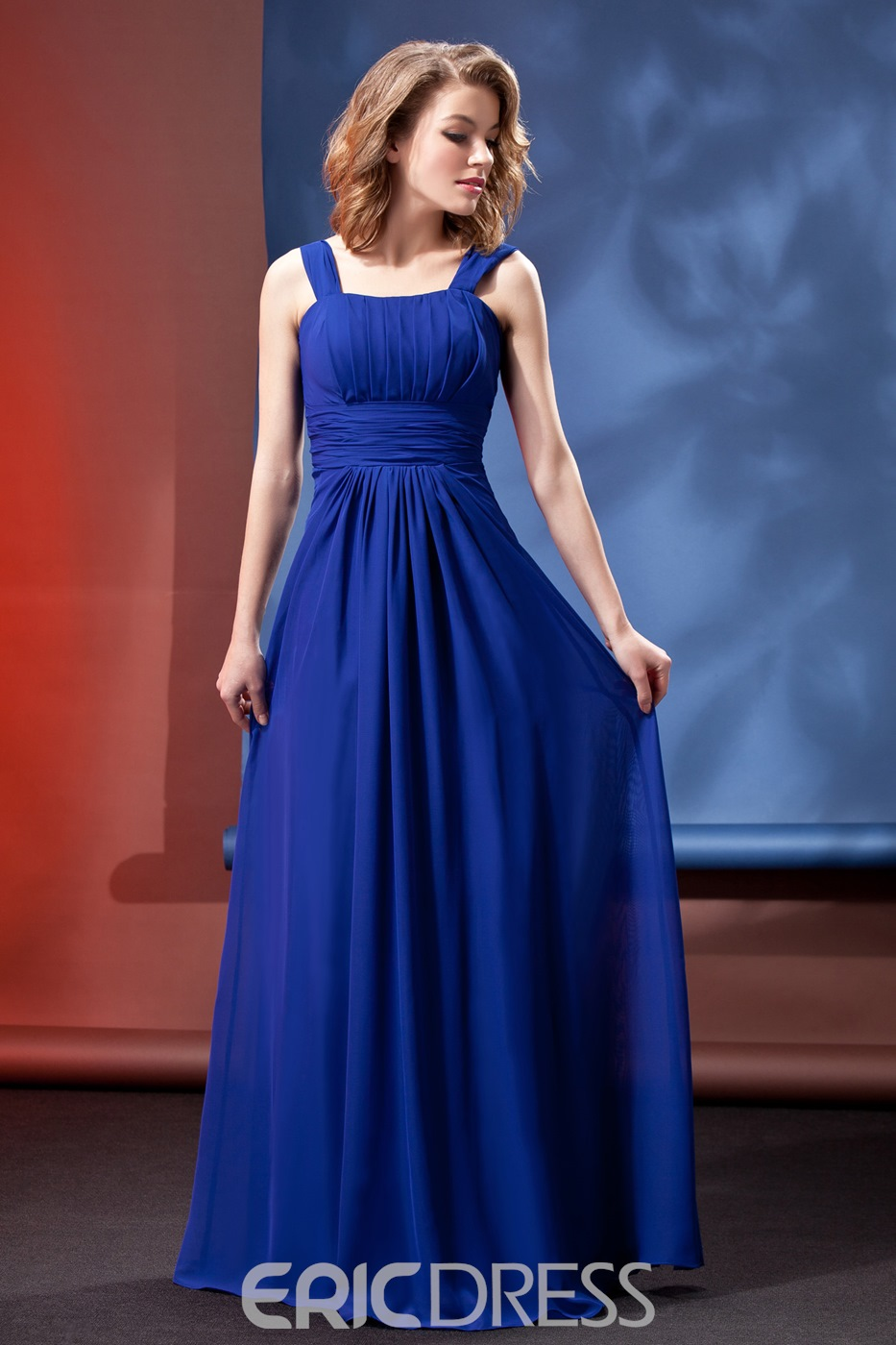 Classy Ruched A-Line Floor-Legnth Bridesmaid Dress