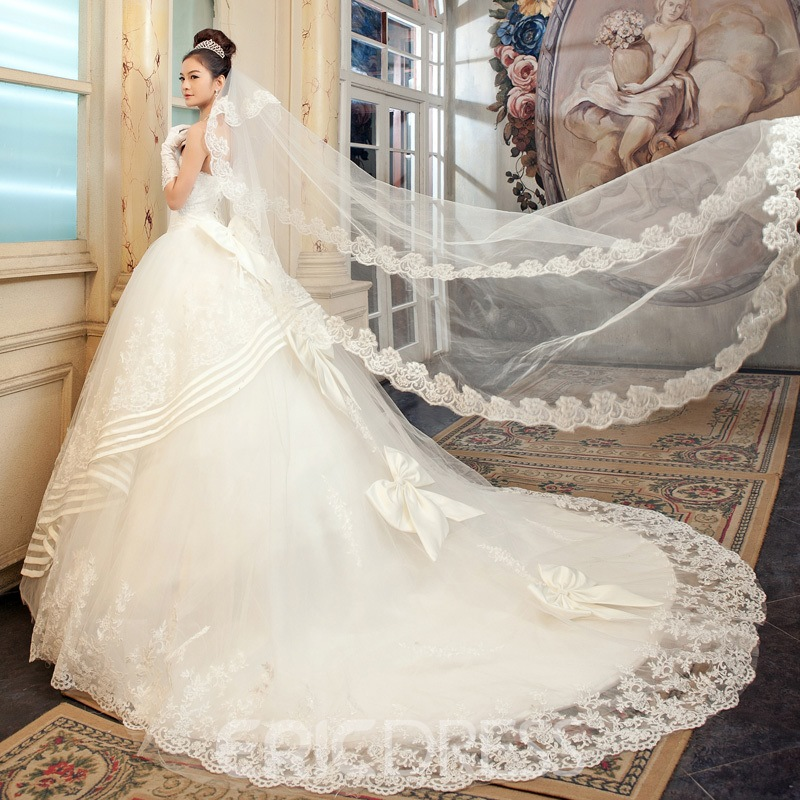 Terrific Ball Gown Strapless Floor-length Wedding Dress