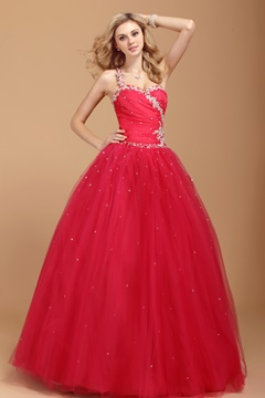 Floor Length Beading One-shoulder Dasha's Prom/Quinceanera Dress
