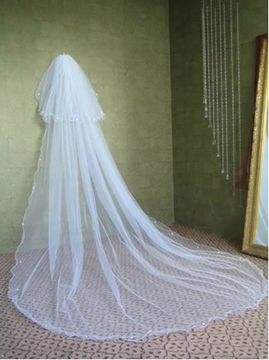 Ericdress Gorgeous Cathedral Length White Tulle Wedding Veil