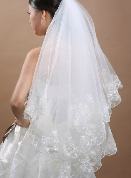 Ericdress Two-Layer Lace Lace Edge Wedding Veil