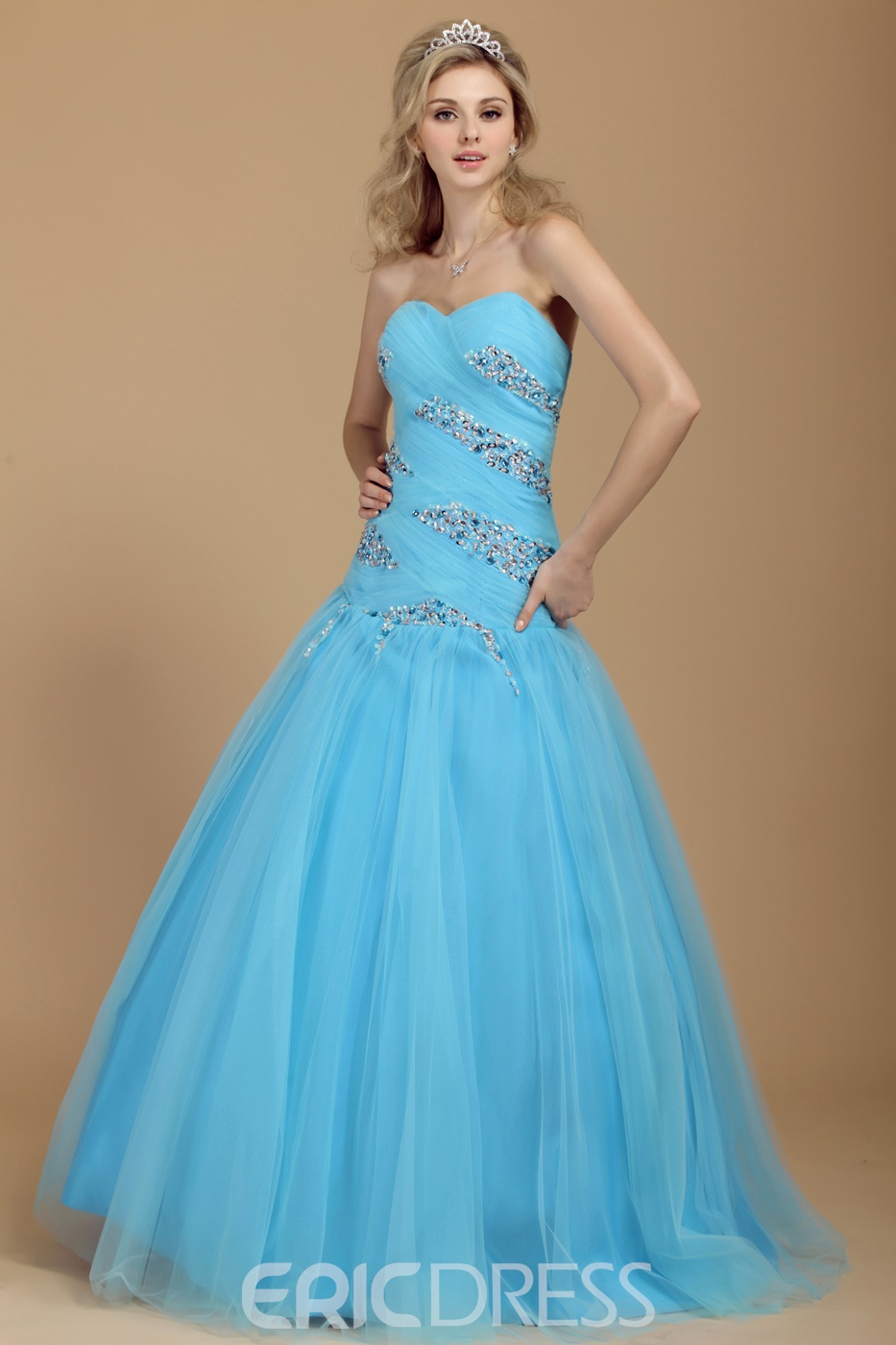 Ball Gown A-Line Sweetheart Floor-Length Beading Dasha's Prom Dress