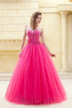 Sweetheart Floor-Length Beading Ela's Prom Ball Gown