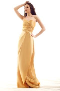 Graceful Pleats A-Line Sweetheart Neckline Floor-Length Luba's Bridesmaid Dress