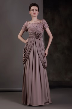 Fabulous Lace Scoop Neckline Floor-length Empire Waist Mother of the Bride Dress