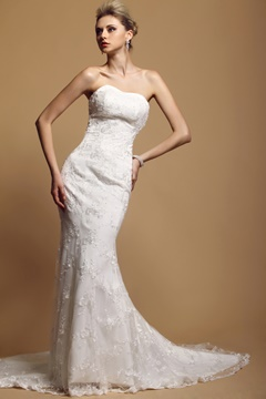 Awesome Trumpet/Mermaid Floor-Length Lace Dasha's Wedding Dress With Jacket/Shawl
