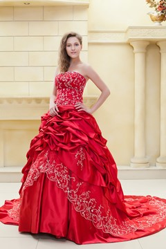 Fabulous Ball Gown Sweetheart Sleeveless Color Wedding Dress