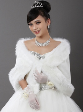 Ericdress Faux Fur Sleeveless Wedding Jackets