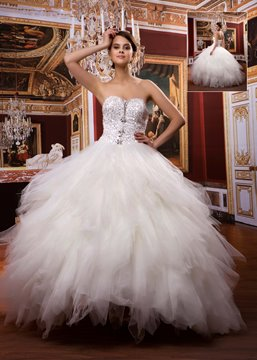 Attractive Ball Gown Sweetheart Floor-length Beaded Wedding Dress