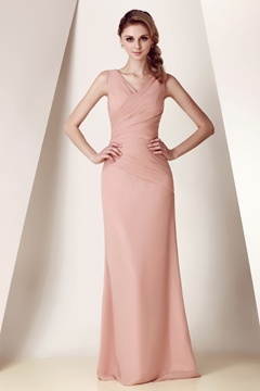 Elegant Strapless/V-Neck Knee/Floor-Length Dasha's Bridesmaid Dress