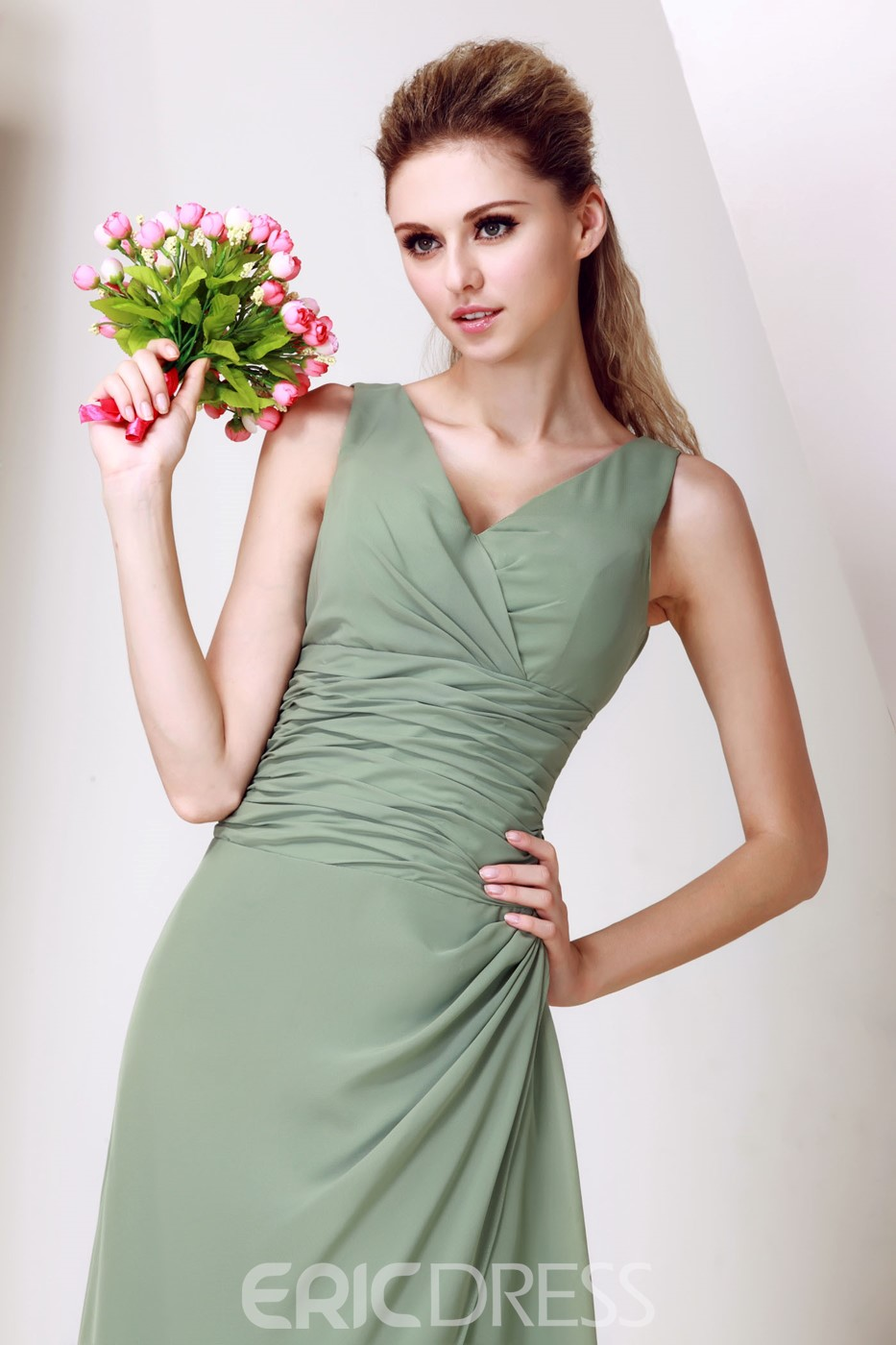 A-Line Backless Floor-Length Dasha's Bridesmaid Dress
