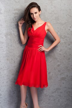 Awesome Renata's Knee-Length V-neck Prom Homecoming Party Dress