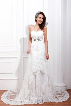 Charming Empire Floor-Length Sweetheart Tulle Renata's Wedding Dress Spring Trends