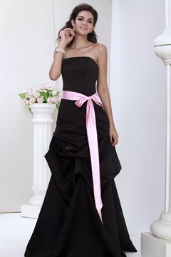 Roxy's Elegant A-line Strapless Ruched Sash Bridesmaid Dress