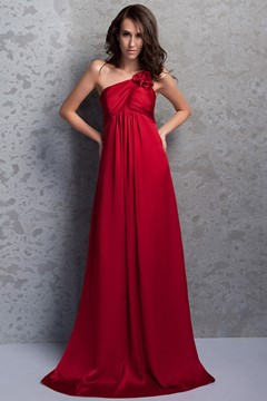Charming Flower A-Line One-Shoulder Floor-length Renata's Bridesmaid Dress