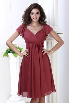 Ericdress Cap Sleeve Knee-Length Beach Bridesmaid Dress