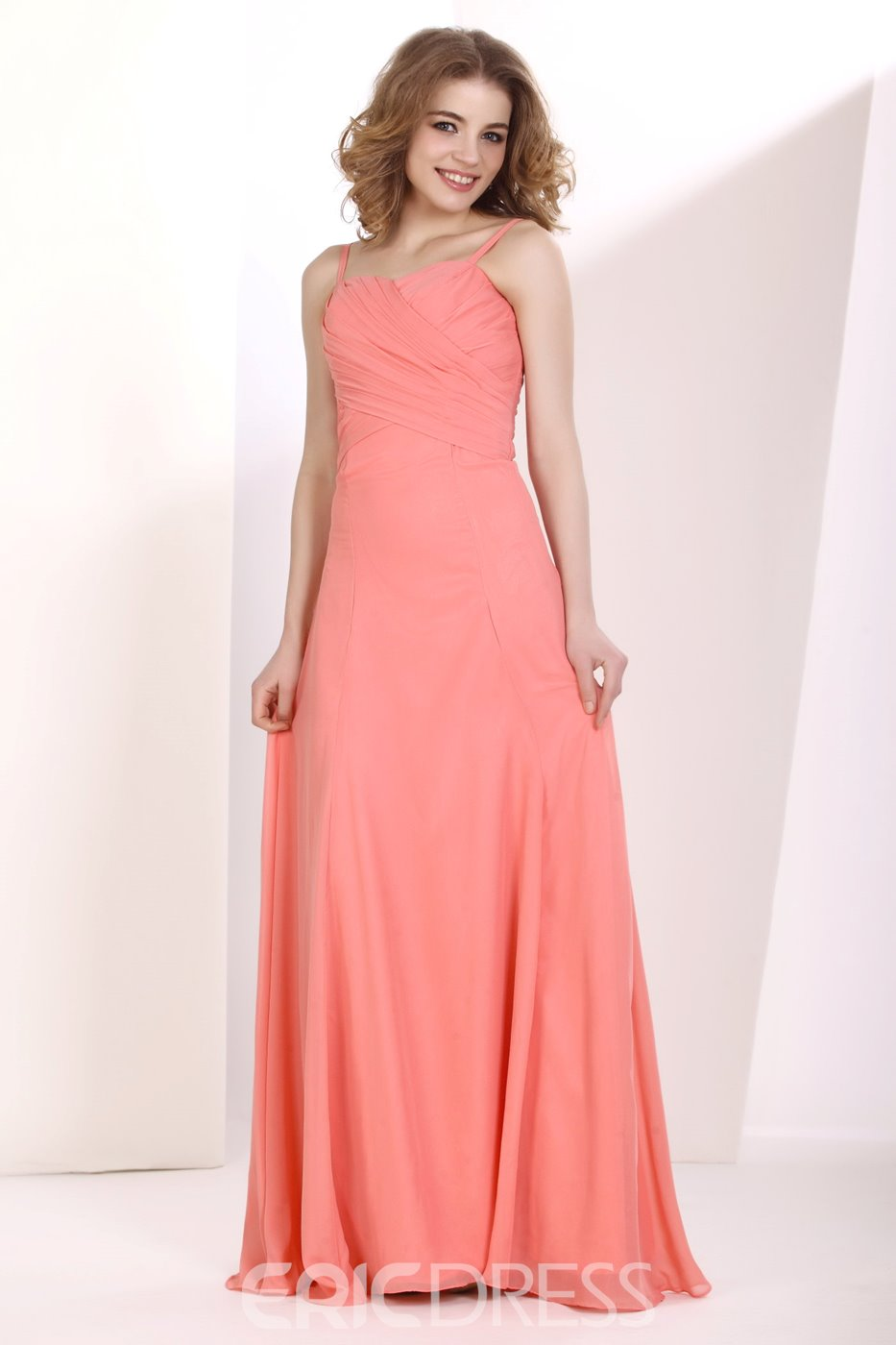 Hot Spaghetti Straps Floor-length Bridesmaid Dress