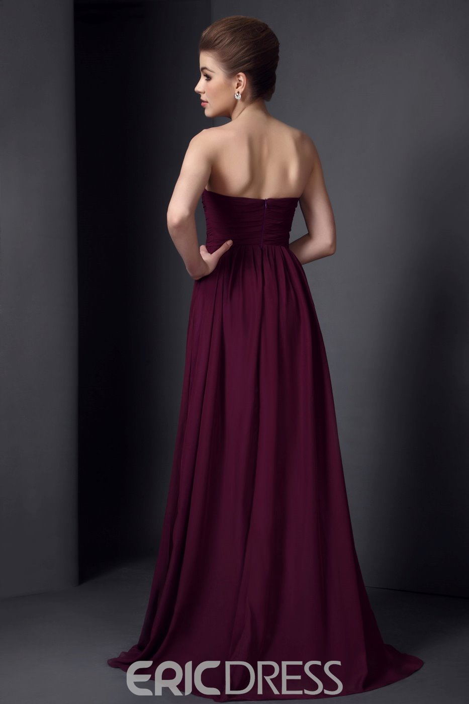 Marvelous Pleats A-Line Empire Waist Floor-Length Bridesmaid Dress