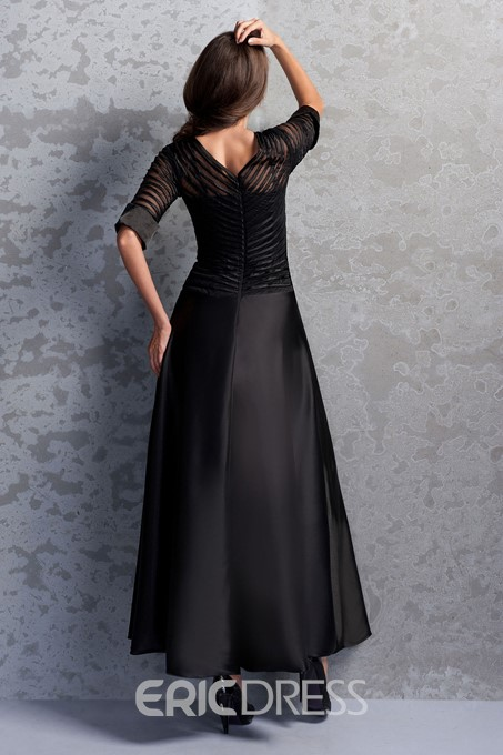 Charming Bateau 3/4-length Sleeves Ankle-Length Miriama's Mother of the Bride Dress