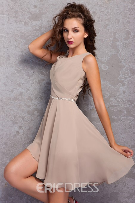 Ericdress A-Line Mini Length Tiered Cocktail Dress