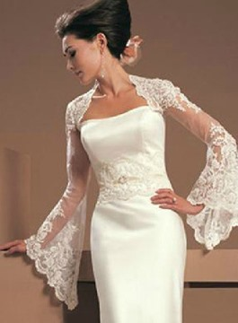 Ericdress Tulle Long Sleeve Wedding Jacket 2020