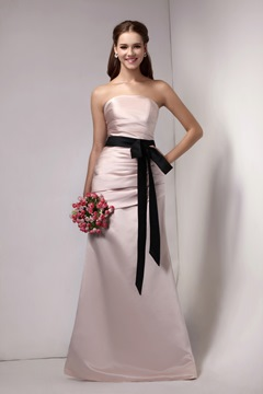 A-Line/Princess Strapless Floor-Length Sandra's Bridesmaid dress