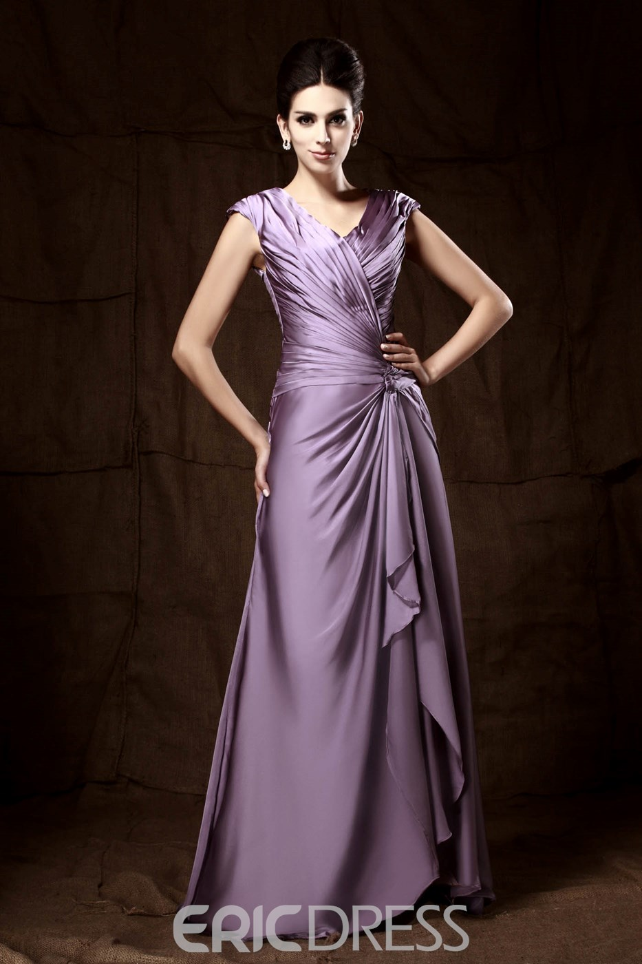 Attractive A-Line Sleeveless V-neck Ankle-length Pick-up Mother Of The Bride Dress