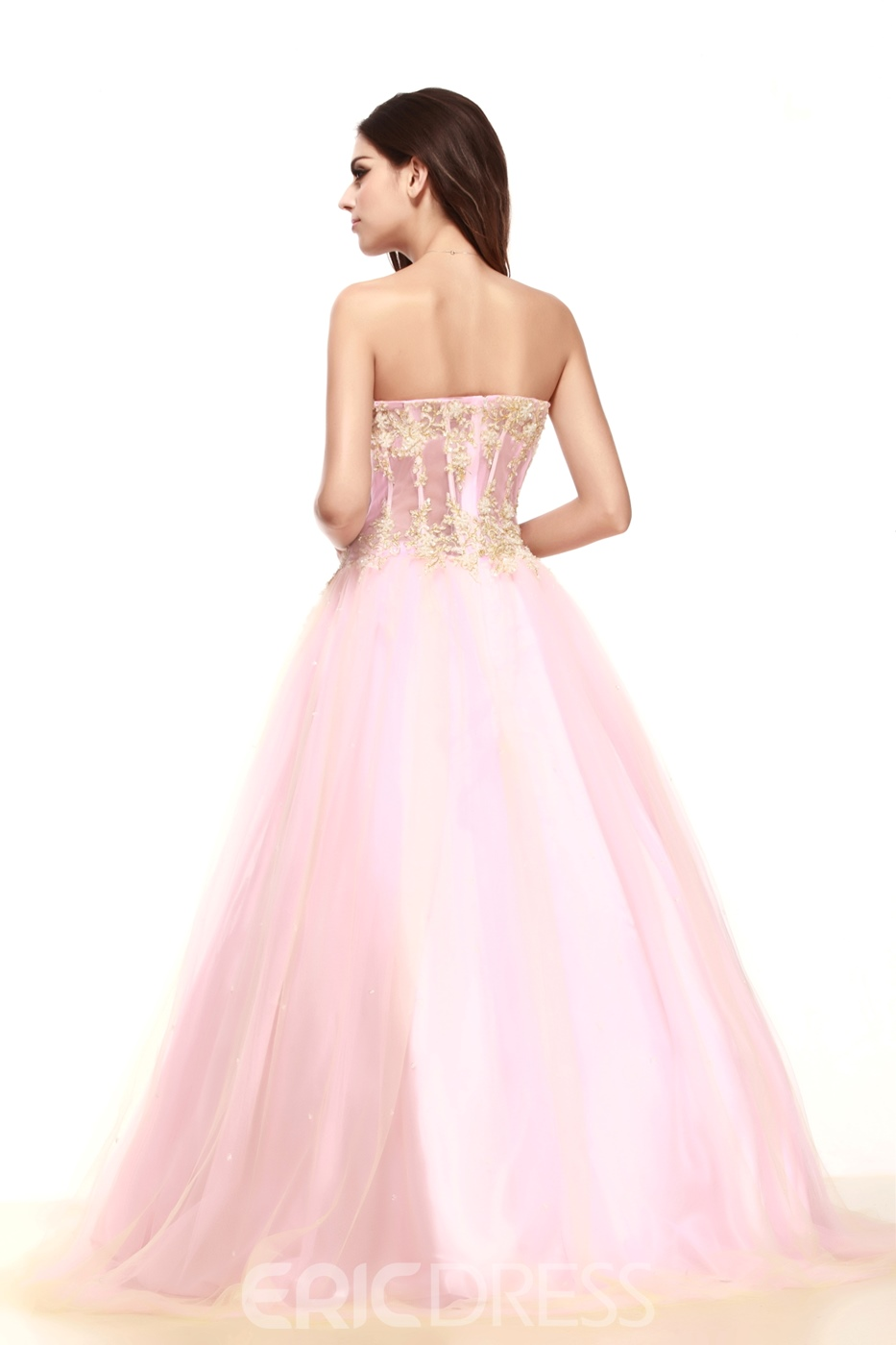 Brilliant A-Line Strapless Floor-Length Taline's Prom/Party Dress
