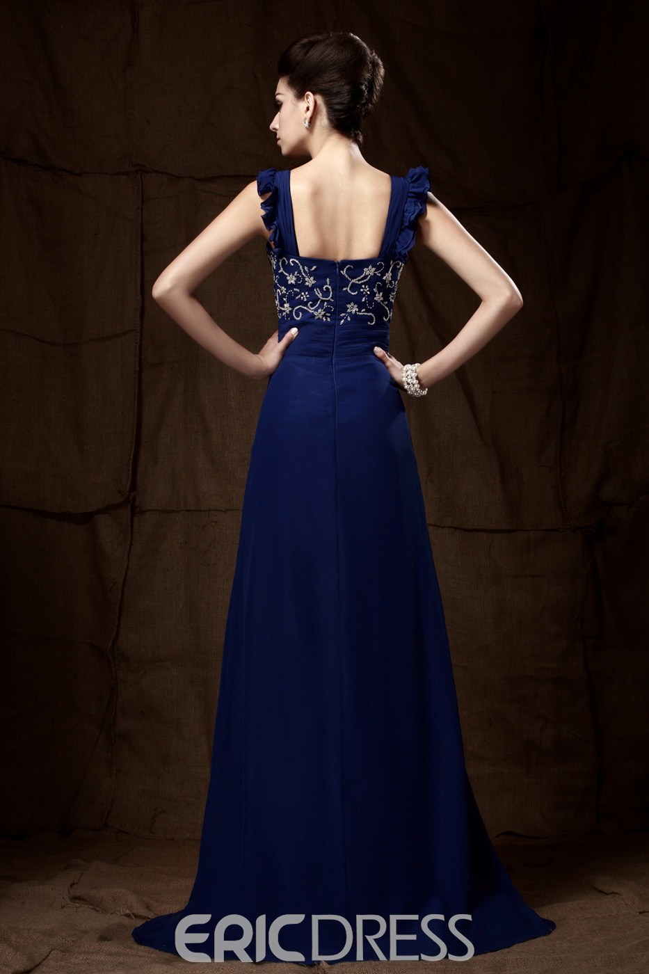 Fashionable Beaded A-Line Sweetheart Neckline Floor-Length Taline's Mother of the Bride Dress